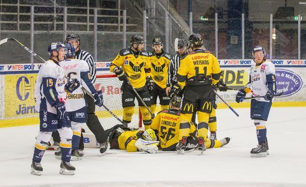 Det blev en mycket jämn match mellan VIK och Borlänge i ABB Arena Nord.