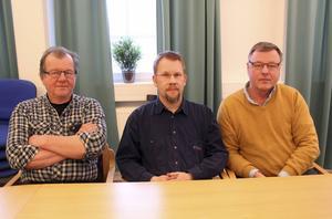 Christer Näslund, Jonas Mähler och Per-Erik Jakobsson är, tillsammans med Roger Höglin, delägare i Mählers smide och Sollefteå svetsmekano.