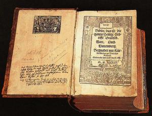 Martin Luthers Bibel från 1524.