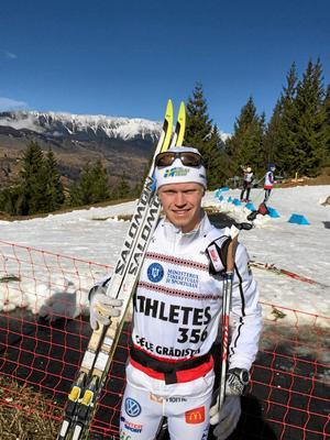 Filip Danielsson har gjort två raka junior-VM. I vinter hoppas han få dra på sig den vita landslagsdressen och köra U23-VM i Salt Lake City (arkivfoto).