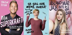 Bokförlaget Forum har gett ut youtube och socialamedier-personerna Viktor Frisk, Clara Henry och Therese Lindgren.