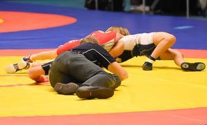 Brottartävlingen Mälarcupen pågår i Bombardier arena under helgen. Bilden visar inte den skadade pojken.