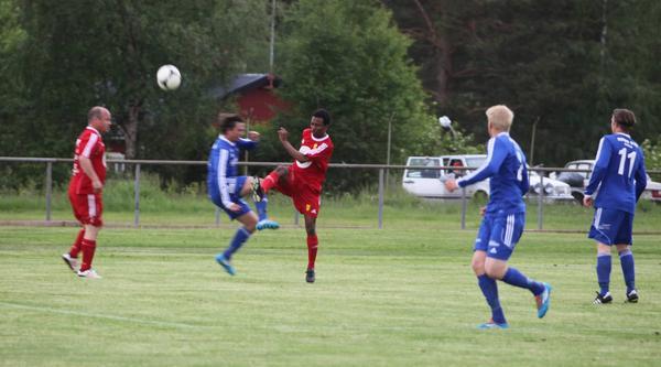 Ytterbacken Abdullah Hassan gjorde en fin insats för Sveg i förlustmatchen mot Myssjö.
