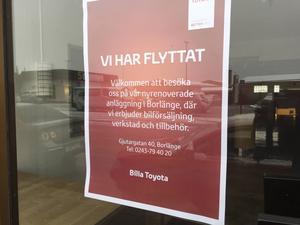 3 november. Säg det som varar för evigt. Lagom till månadsskiftet oktober/november avslutades det japanska bilmärket Toyotas 46 år långa närvaro i Ludvika. Den lilla bilhallen i Ludvika bommades igen och försäljningen koncentrerades till den moderna och flotta anläggningen i Borlänge.