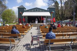 150 personer samlades i Societetsparken under torsdagen.