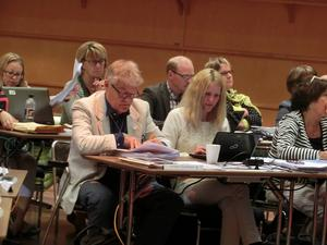 Alliansen i landstinget med Christer Siwertsson och Susanne Wallner (M) i spetsen