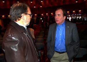 För ett år sedan var Löfven i Mora. Där träffade han bland annat Bengt-Åke Rehn.