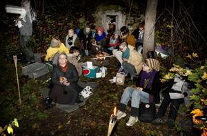 En grupp elever från Brunnsviks folkhögskola samlade in namn i hopp om att försöka rädda skolan kvar i Brunnsvik.