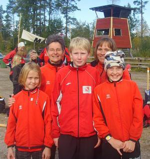 Från vänster: Agnes, Lena, Isak, Helena och Anton.Bild: Jörgen Dalén