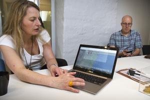 Anna Gustavsson, Fiber Optic Valley, leder tillsammans med Jonas Lindqvist, Acreo, ett projekt som mäter mobiltäckningen i Hudiksvalls kommun.