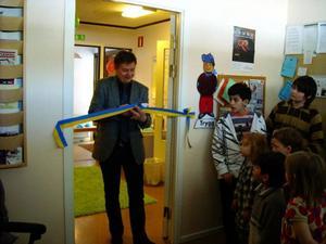 I tisdags invigdes Familjernas hus av kommunalrådet Sven-Åke Draxten.  Foto: Privat