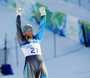 """""""Anja har en stark vilja i kombination med en stark tro på sig själv. Hon ser till att se det positiva i situationen. Hon intalar sig att hon har presterat bra på OS förut."""""""