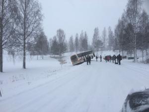 Olyckan inträffade i närheten av Hagge golfklubb.