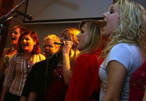 Kören, med 16 sångare, framträdde avslutningsvis.