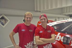 På samma bana. Både Kevin och Oliver Eriksson tävlade i Kanada under helgen.