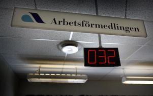 Allt fler tvingas gå till arbetsförmedlingen när jobben läggs ner. Foto: YVONNE ÅSELL / SvD / SCANPIX