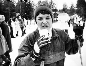 Gudrun Wall, från Östersund, var en flitig deltagare i de långlopp (där hon tilläts delta) som genomfördes under slutet av 1960-talet.