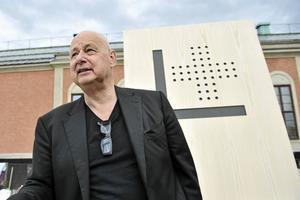 Gert Wingårdh berättar om tankarna bakom stationsområdet. Foto: Stina Stjernkvist / TT /