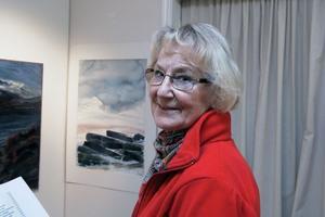 Wanda Andersson från Bollnäs har tillbringat sin fritid under 30 år i Härjedalen. Hon tycker Bengt Ellis även var en suverän akvarellmålare, som fångade vyer och stämningar på fjället.