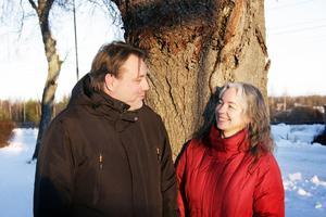 Magnus Pamp och Kia Enbarr bor och jobbar tillsammans.