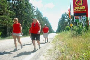 MANIFESTATION. Förra året vandrade Kommunals medlemmar för rätten till heltid, som här i Mehedeby. I år cyklar de runt Uppsala län.