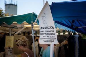 Många hade kommit till knallemarknaden för att sälja sina egen tillverkade produkter.