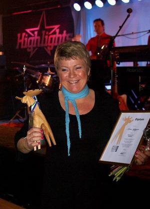 Ulla Jonsson utsågs till årets nybyggare i Strömsunds kommun.