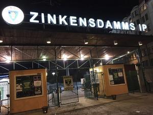 Entrén på Zinkensdamms IP.