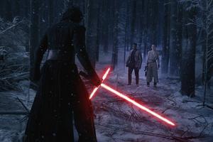 Finn och Rey (John Boyega och Daisy Ridley) får möta den mörka sidan av kraften i