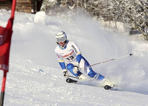 FIS-tävlingar Funäsdalen, Vera Fermbäck, Vemdalens alpina, var för sen i en port i andra åket och tappade tid