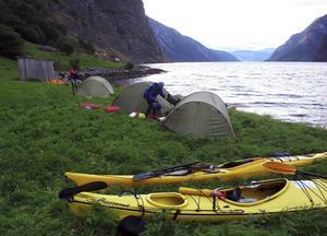Dags att slå nattläger på getternas betesmark vid Aurangerfjorden.   Foto: Johan Öberg