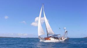 Båten Kuheli, som betyder dimmig morgon på bengaliska, är en Hallberg Rassy Rasmus från 1976, 35 fot (10 meter). Båten har tidigare gjort en jordenruntresa och seglat till Grönland med båtens tidigare ägare. Så att den är prövad tycker familjen känns skönt.