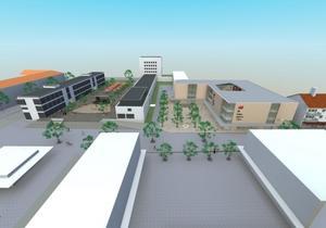 Baptistkyrkan rivs till förmån för ett köpcentrum. Jerntorget bebyggs med kontor. I alla fall om Sandvikenhus egen vision om den framtida stadsbebyggelsen blir verklighet.