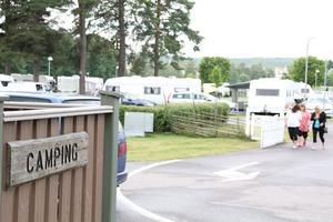 Bollnäs camping är populär – just nu är den fullbelagd.