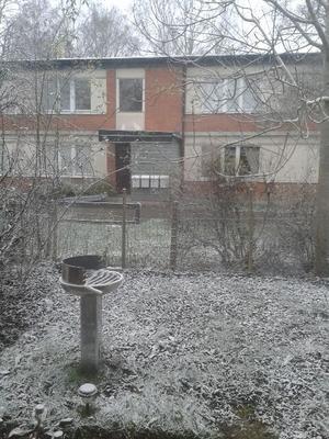 Var inte beredd på snön så grillen står kvar :)