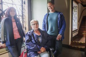 Tajna Ademaj, Lena Kleist och Magnus Svensson är bekymrade över tillgängligheten i Söderhamns museum.