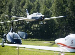 Kräftstjärtsvängen på Siljansnäs flygfält.