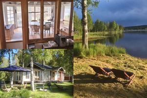 Utanför Uvanå i Värmland, nära dalagränsen, ligger det här fritidshuset med tillhörande gård på Sundheden 17, 20, 22.