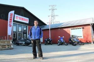 Jörgen Widmark blir ansvarig på plats för Yamaha Ljusdal som inviger med öppet hus på snöskoterns dag på lördag.