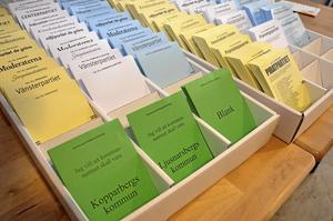 Förutom valen till riksdag, kommun och landsting fick Ljusnarsbergsborna även rösta om kommunens framtida namn. Den fjärde, gröna röstsedeln avgjorde om Ljusnarsbergs kommun skulle bli Kopparbergs kommun eller inte.