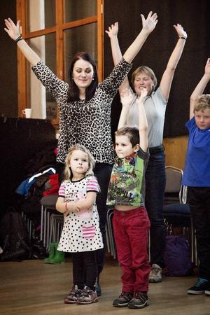 Desirée Nilsson besökte mässan med sina två barn, Melvin Nilsson 5 år, och Madicken Nilsson 4 år. s