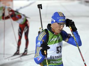 Björn Ferry under en världscuptävling i Östersund 2009.
