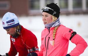 Felicia Lindqvist, Östersund, tog brons i rullskidskytte-SM-sprinten. Arkivbild