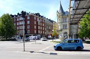 Korsningen in mot Storgatan stängs för biltrafik.