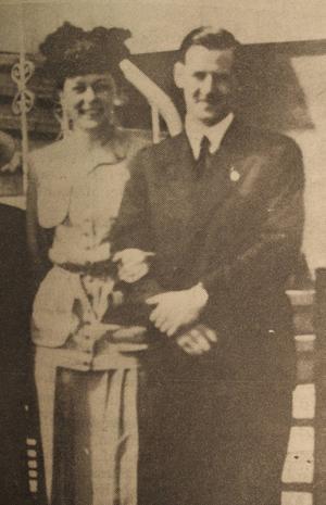 Jane Horney och Jörgen Winkel, bilden troligen tagen i Stockholm år 1944.