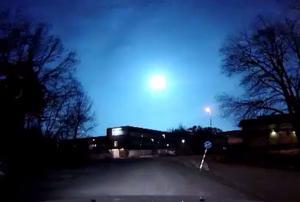 Så här såg ljusfenomenet ut i Saltsjöbaden i Stockholm.