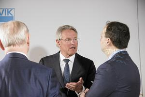 Björn Rosengren vid en presskonferens där kvartalsrapporten redovisades. Bild: Anders Eklind