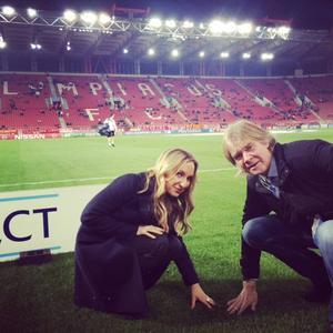 Tisdag: Strax match, Olympiacos-PSG. Dags för den obligatoriska gräs-granskningen. Känns bra!