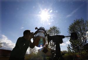 """Solen är just nu Görans favoritmotiv. """"Solaktiviteterna har just börjat komma igång efter några års frånvaro. Foto: Jan Andersson"""
