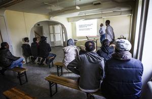 På ett asylboende i Järvsö hölls på torsdagen en utbildning i brandsäkerhet.